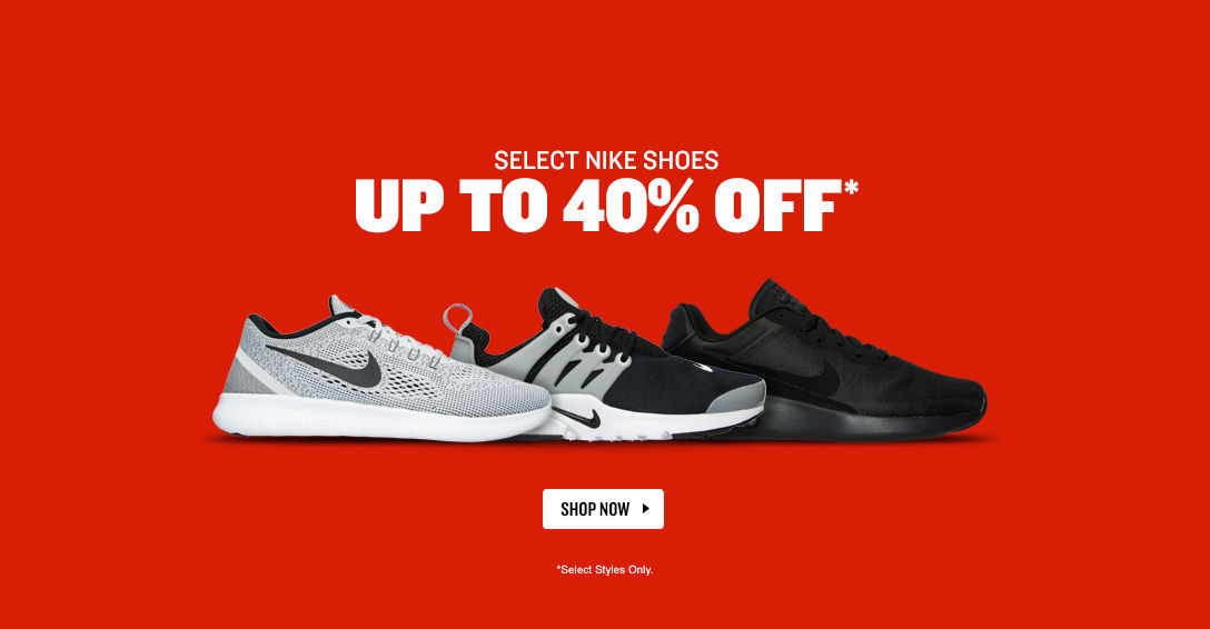 Select Nike Shoes Up To 40% Off. Shop Now.