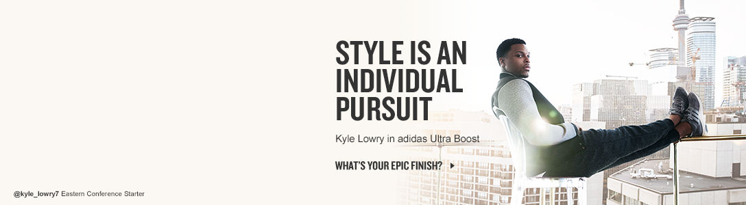 Style in an individual pursuit. NBA Star Kyle Lowry rocks adidas boost to show his Epic Finish. What's your Epic Finish?