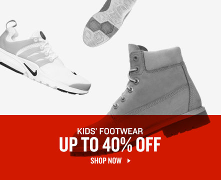Kids' Footwear Up To 40% Off. Shop Now.