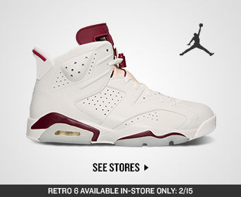 Jordan Retro 6 in store only launch on 2/15. See which stores are carrying it.