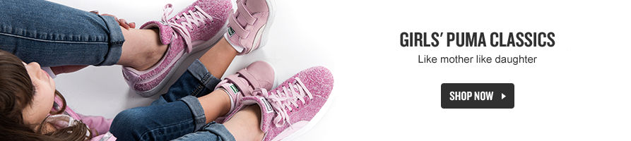 Girls' Puma Classics. Shop Now.