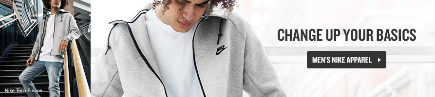 Change up your basics. Shop Men's Nike Apparel.