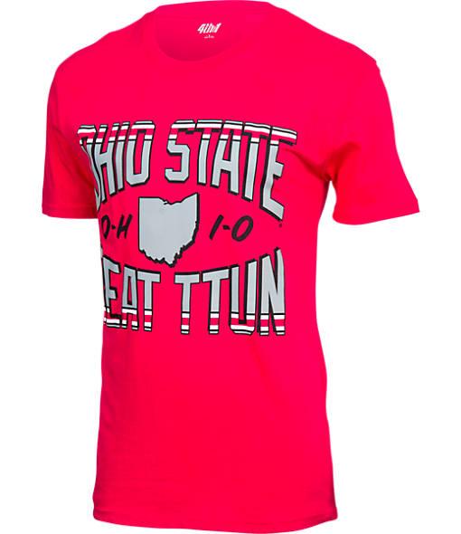 Men's J. America Ohio State Buckeyes College Arch Button T-Shirt