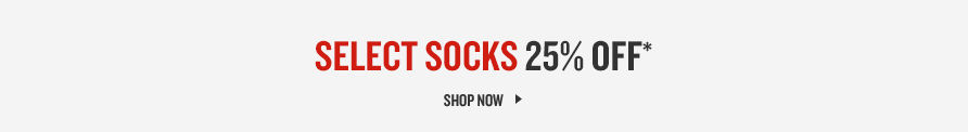 Select Socks 25% Off. Shop Now.