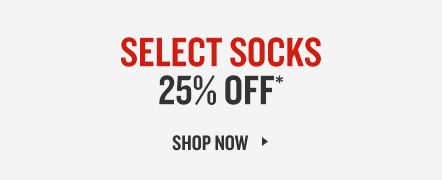 Select Socks 25% Off. Shop Now.