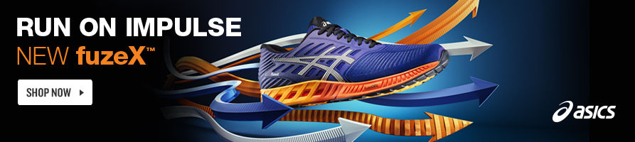 Asics fuzeX. Shop Now.