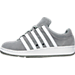 Left view of Men's K-Swiss Classic VN Suede Casual Shoes in Grey/White/White