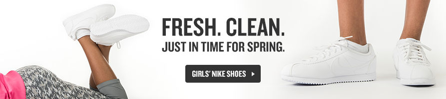 Fresh and Clean for Spring. Shop Girls' Nike Shoes Now.