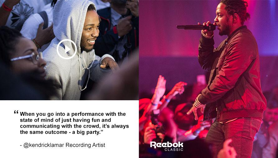 Kendrick Lamar racks Reebok Classics.