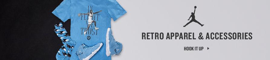 Jordan Retro Apparel and Accessories. Shop Now.