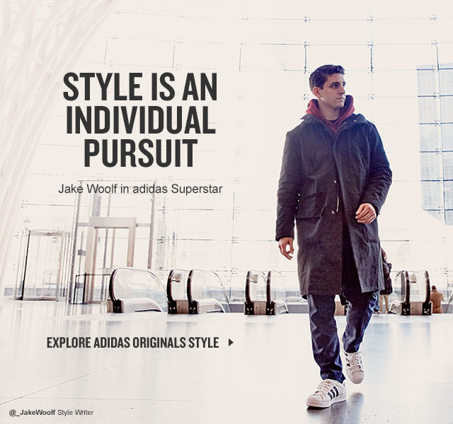 Style is an individual pursuit. Style writer Jake Woolf rocks adidas Superstar in his pursuit of style. What's your Epic Finish? Click to see more.