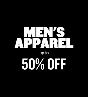 Men's Apparel Up to 50% Off
