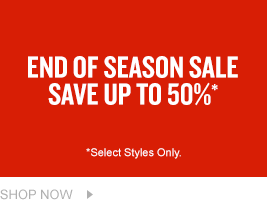 End of Season Sale. Up To 50% Off. Shop Men's.