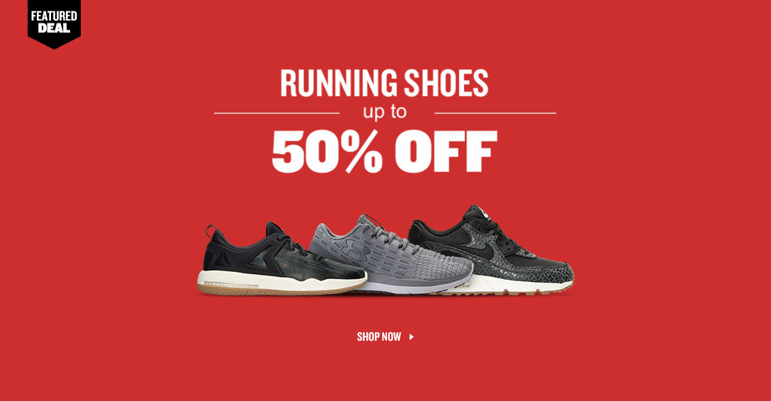 Running Shoes Up To 50% Off.