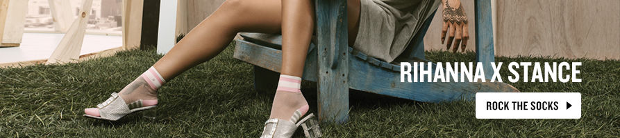 Rock the Sock. Shop Rihanna X Socks Now.