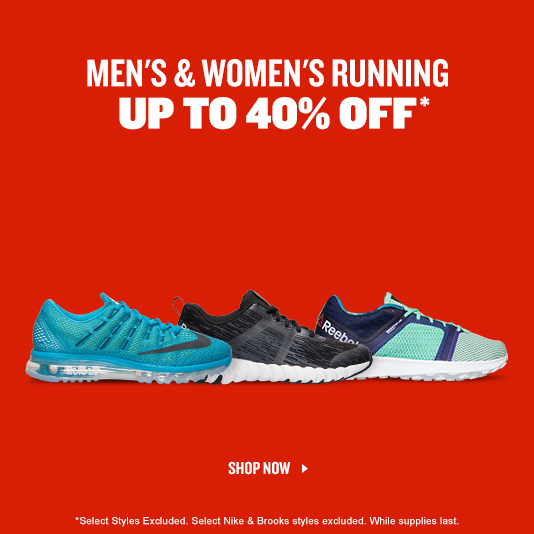 Men's and Women's Running Shoes. Shop Up to 40% Off.
