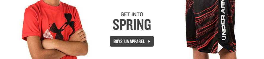 Get into Spring. Shop Boys' UA Apparel.