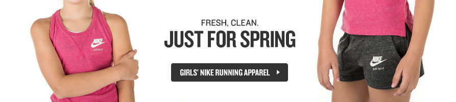 Fresh, Clean. Just in Time for Spring. Shop Girls' Nike Running Apparel.