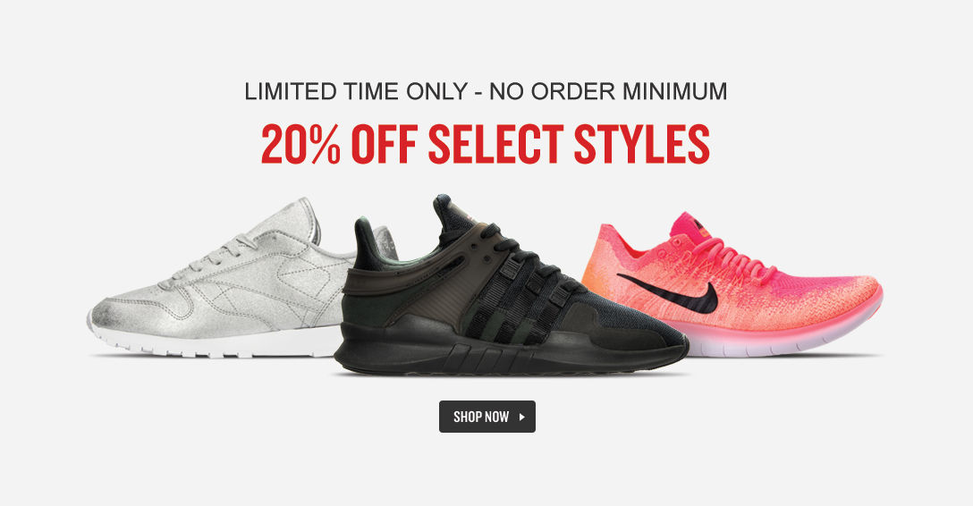 20% Off Select Shoes. Shop Now.