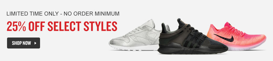 25% Off Select Shoes. Shop Now.