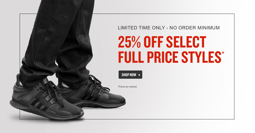 Take 25% off Select Full Price Styles.