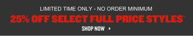 25% Off Select Shoes. Shop Now.
