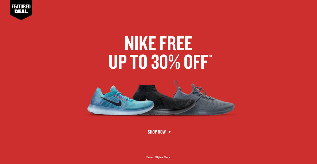 Nike Free Up To 30% Off. Shop Now.