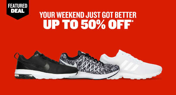 Featured Deal. Your Weekend Just Got Better. Up To 50% Off.