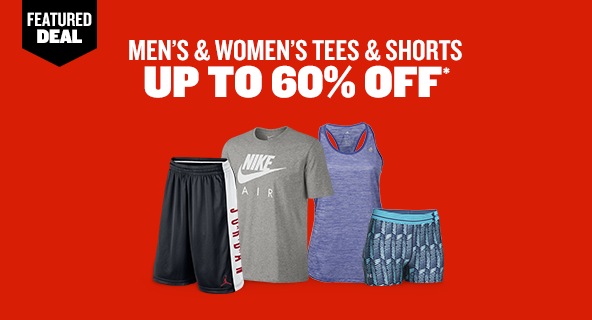 Men's and Women's Tees and Shorts Up To 60% Off