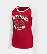 Women's Stadium Arkansas Razorbacks College Long-Sleeve Healy Raglan T-Shirt