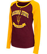 Women's Stadium Arizona State Sun Devils College Long-Sleeve Healy Raglan T-Shirt