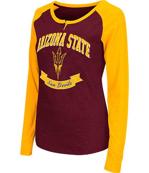 Women's Stadium Arizona State Sun Devils College Long-Sleeve Healy Raglan T-Shirt