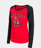 Women's Stadium Ball State Cardinals College Long-Sleeve Healy Raglan T-Shirt