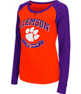 Women's Stadium Clemson Tigers College Long-Sleeve Healy Raglan T-Shirt
