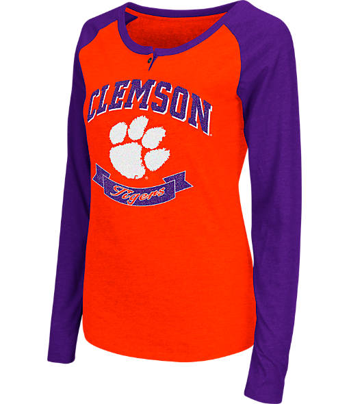 Women's Stadium Clemson Tigers College Long-Sleeve Healy Raglan T-Shirt