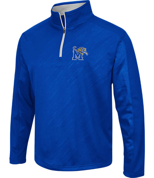 Men's Stadium Memphis Tigers College Embossed Sleet Quarter-Zip Pullover