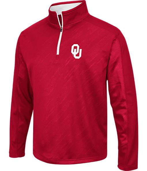 Men's Stadium Oklahoma Sooners College Embossed Sleet Quarter-Zip Pullover