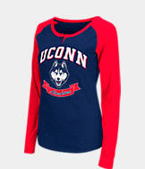 Women's Stadium UCONN Huskies College Long-Sleeve Healy Raglan T-Shirt