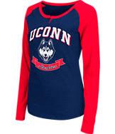 Women's Stadium UCONN Huskies College Long-Sleeve Healy Raglan T-Shirt