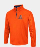 Men's Stadium Syracuse Orange College Embossed Sleet Quarter-Zip Pullover
