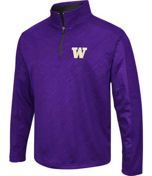 Men's Stadium Washington Huskies College Embossed Sleet Quarter-Zip Pullover