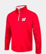 Men's Stadium Wisconsin Badgers College Embossed Sleet Quarter-Zip Pullover