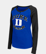 Women's Stadium Duke Blue Devils College Long-Sleeve Healy Raglan T-Shirt
