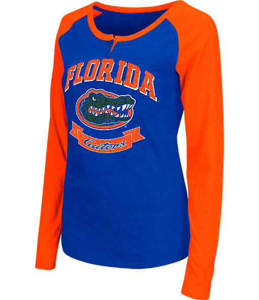 Women's Stadium Florida Gators College Long-Sleeve Healy Raglan T-Shirt
