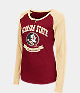 Women's Stadium Florida State Seminoles College Long-Sleeve Healy Raglan T-Shirt