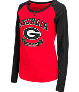 Women's Stadium Georgia Bulldogs College Long-Sleeve Healy Raglan T-Shirt