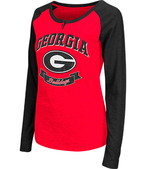 Women's Stadium Georgia Bulldogs College Long-Sleeve Healy Raglan T-Shirt