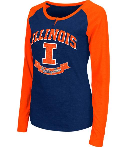 Women's Stadium Illinois Fighting Illini College Long-Sleeve Healy Raglan T-Shirt