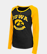 Women's Stadium Iowa Hawkeyes College Long-Sleeve Healy Raglan T-Shirt