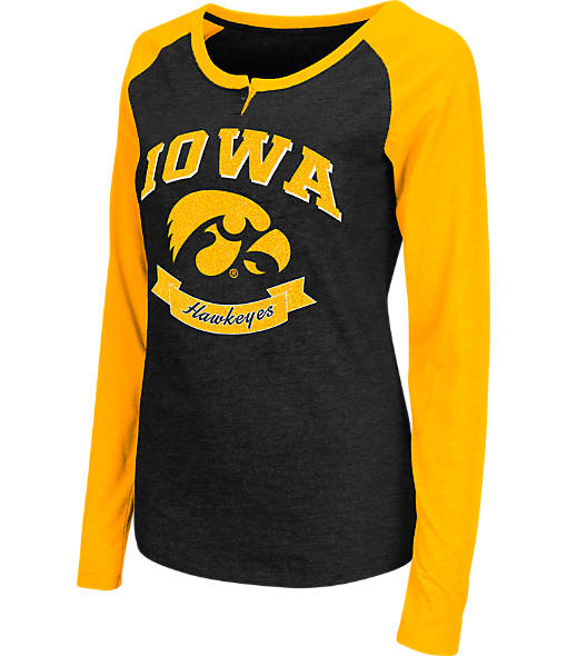 Women's Stadium Iowa Hawkeyes College Long-Sleeve Healy Raglan T-Shirt